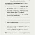Contractors Indemnity Agreement Template