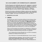Data Management and Confidentiality Agreement Template