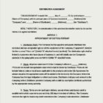 Distributorship Agreement Template Word Document Free