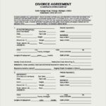 Divorce Agreement Form Template Free