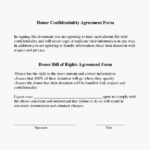 Donor Generic Confidentiality Agreement Form Template