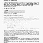 Draft Framework Agreement Template