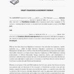 Draft Franchise Agreement Template