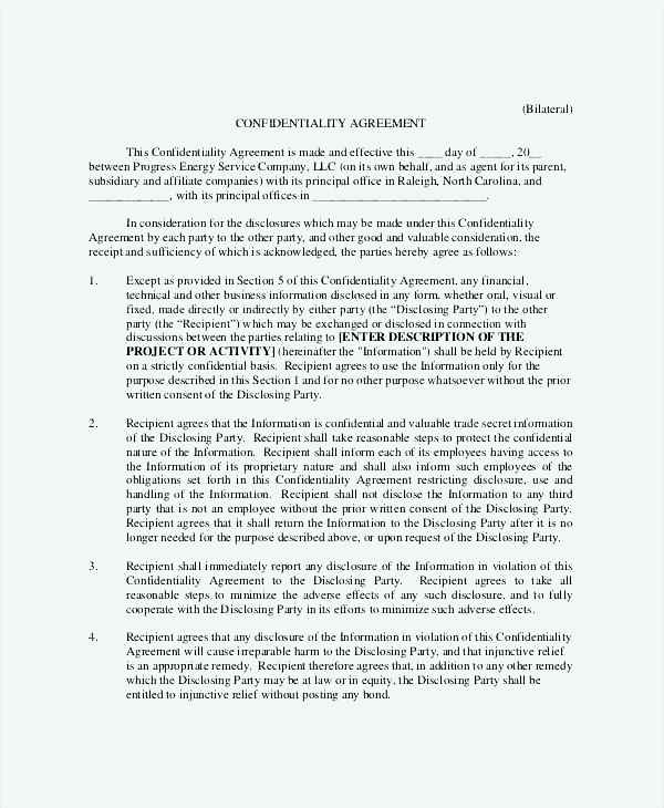 Employee Generic Confidentiality Agreement Template