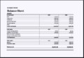 Asset and Liability Report Balance Sheet