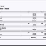 Asset and Liability Report Balance Sheet