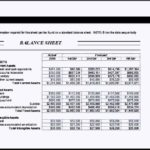 Corporate Analysis Balance Sheet Template Excel