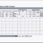 Education Credits Tracker Template