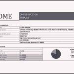 Home Construction Budget Worksheet