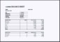 MS Excel Cashier Balance Sheet Template