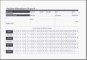MS Excel Student Attendance Record Template