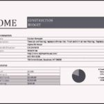 Sample Home Construction Budget Worksheet Template