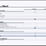Yearly Comparison Balance Sheet Template MS Excel
