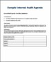 Audit Agenda Template