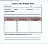 Data Analysis Template For Teachers