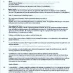 Employee Work Agreement Template