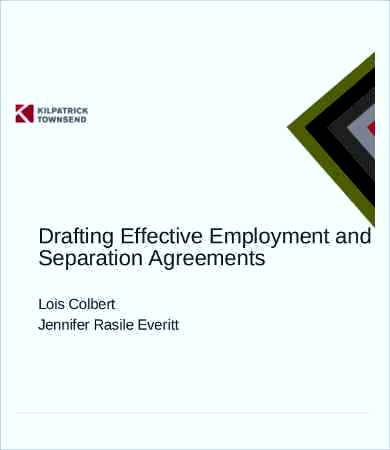 employment separation agreement template free