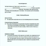 Enforcement Buy Sell Agreement Template Free