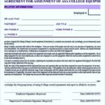 Equipment Assignment Agreement Template