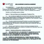 Equipment Donation Agreement Template