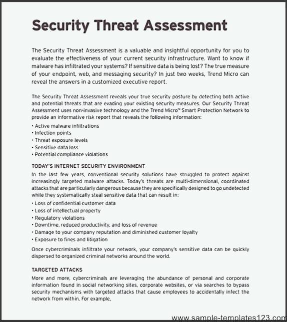 Network Security Assessment Template  Sample Templates  Sample
