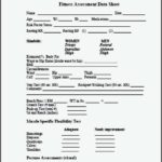 Personal Training Assessment Template
