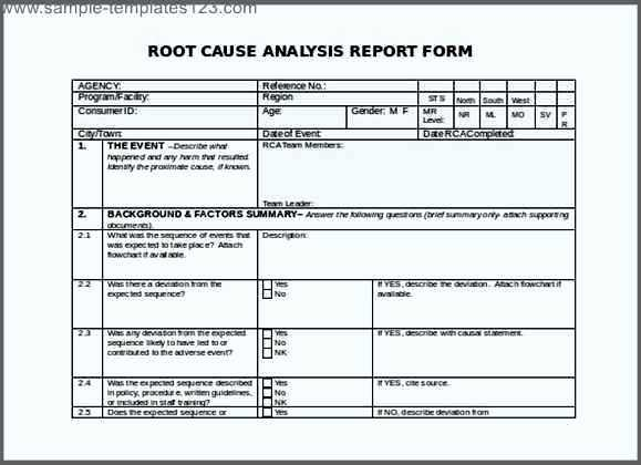 Root Cause Analysis Template  BesikEightyCo