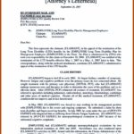 Sample Long Term Disability Appeal Letter