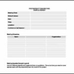 Team Meeting Agenda Template Free