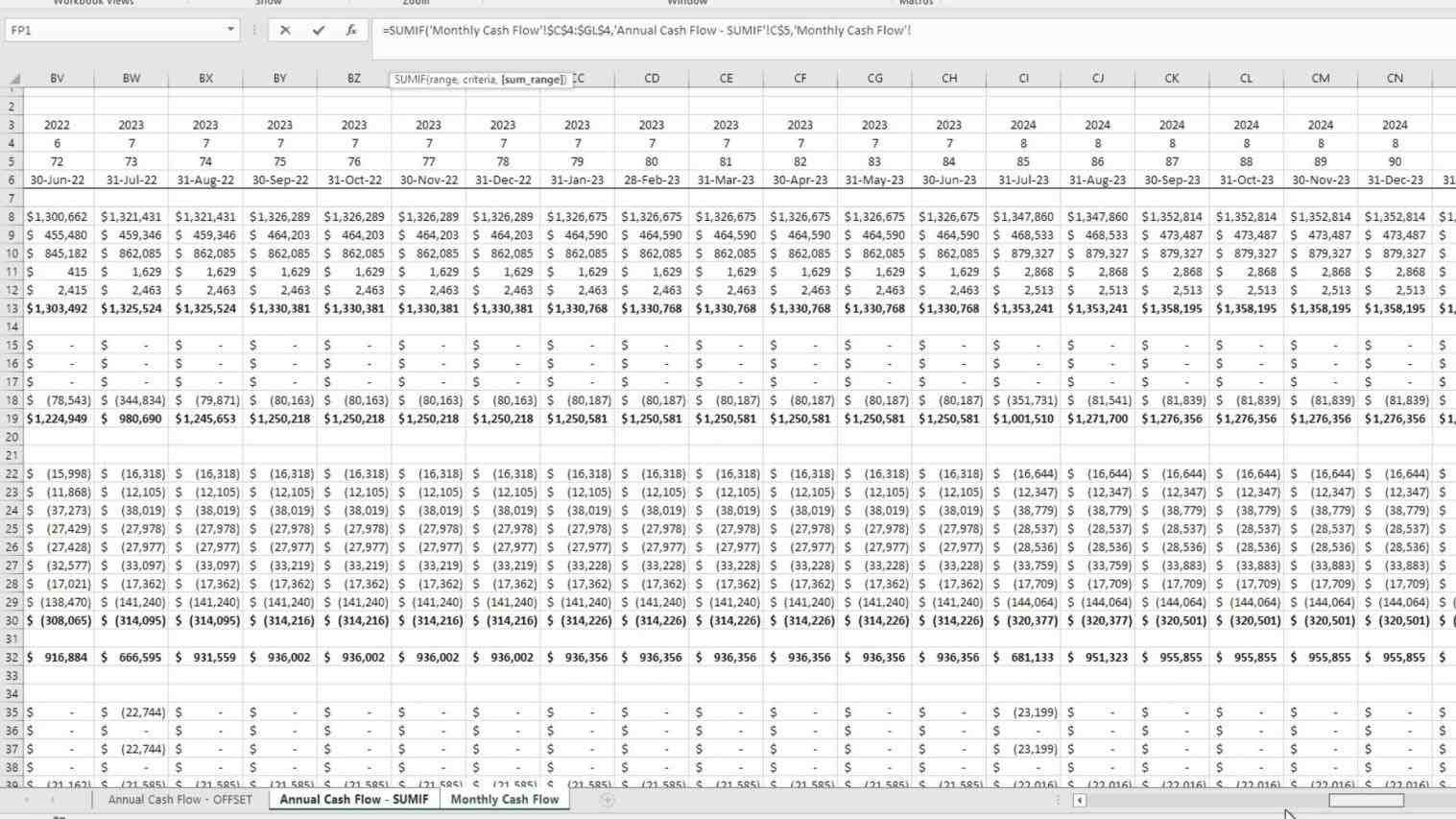 Daily Monthly Annual Cash Flow Statement techniques for converting monthly to annual cash flows in flow excel template commonpenceco cash