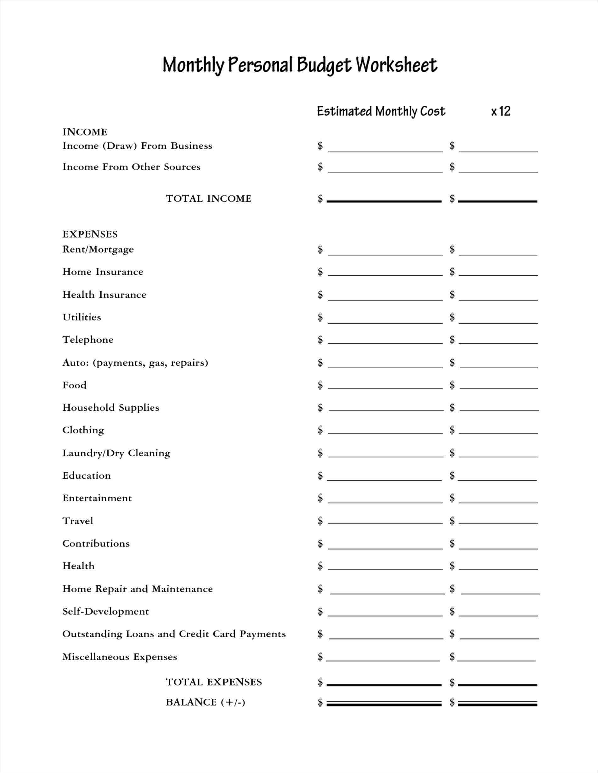 Family Monthly Expense Calculator Worksheet monthly expense sheet elegant bud and budget planning commonpenceco budget Family Monthly Expense Calculator Worksheet