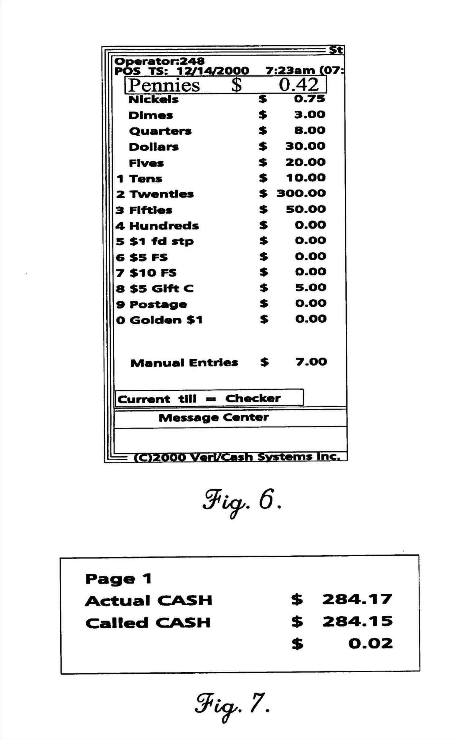 cash register closeout template