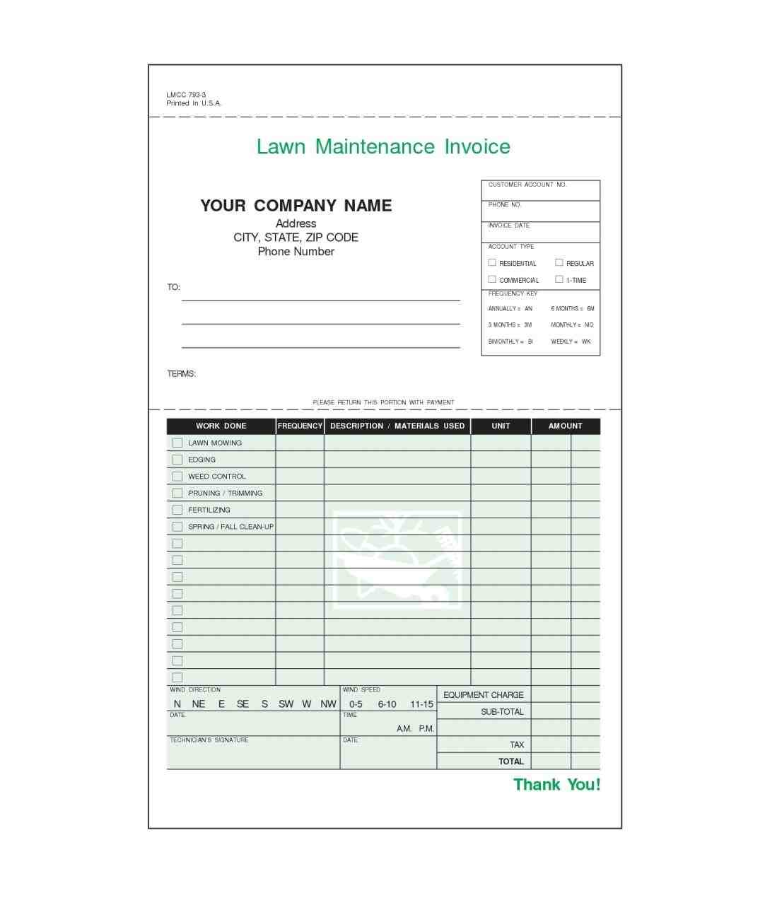 Maintenance Invoice - Sample Templates - Sample Templates