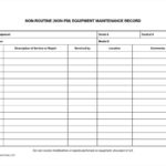 Equipment Maintenance List