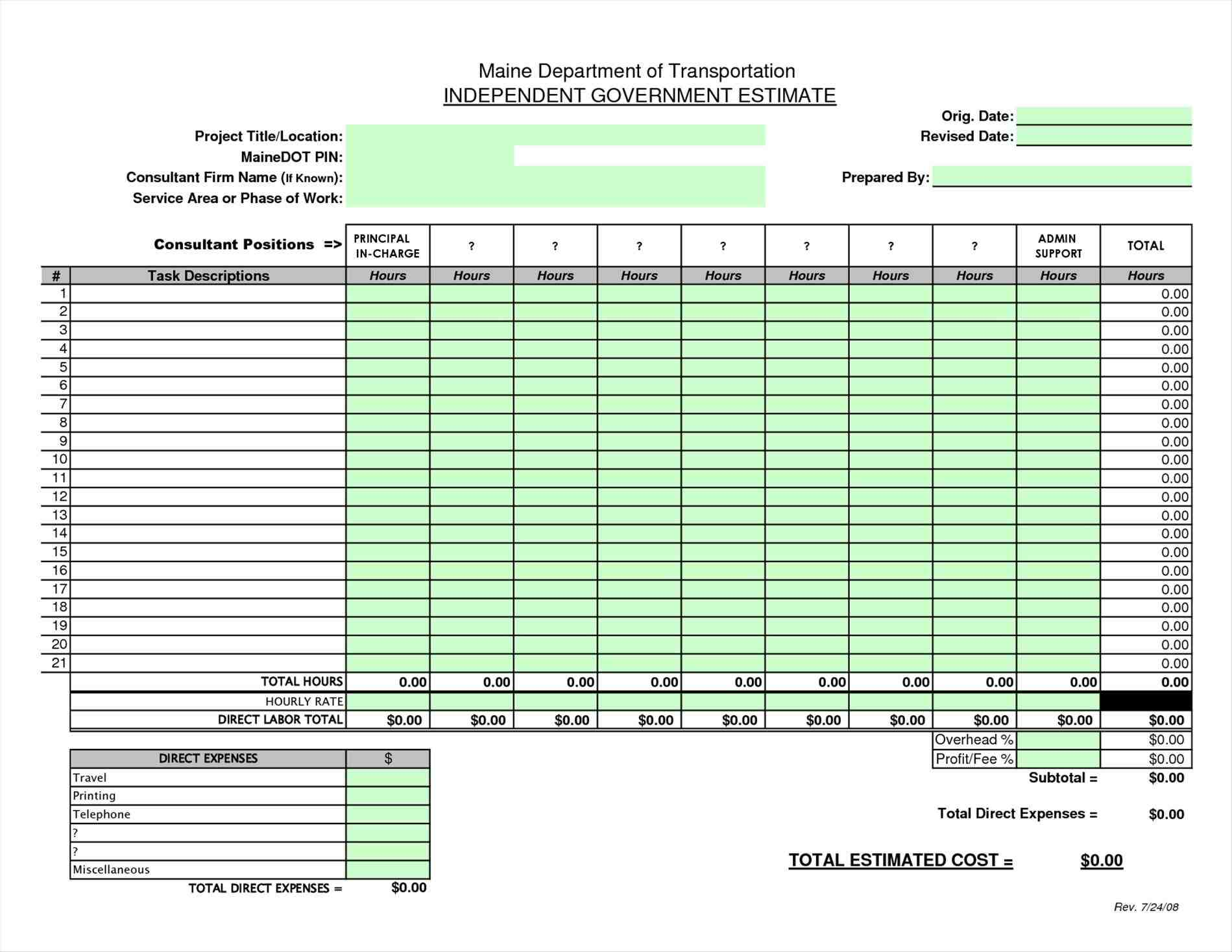 Home construction expense calculator worksheet sample for House building cost spreadsheet