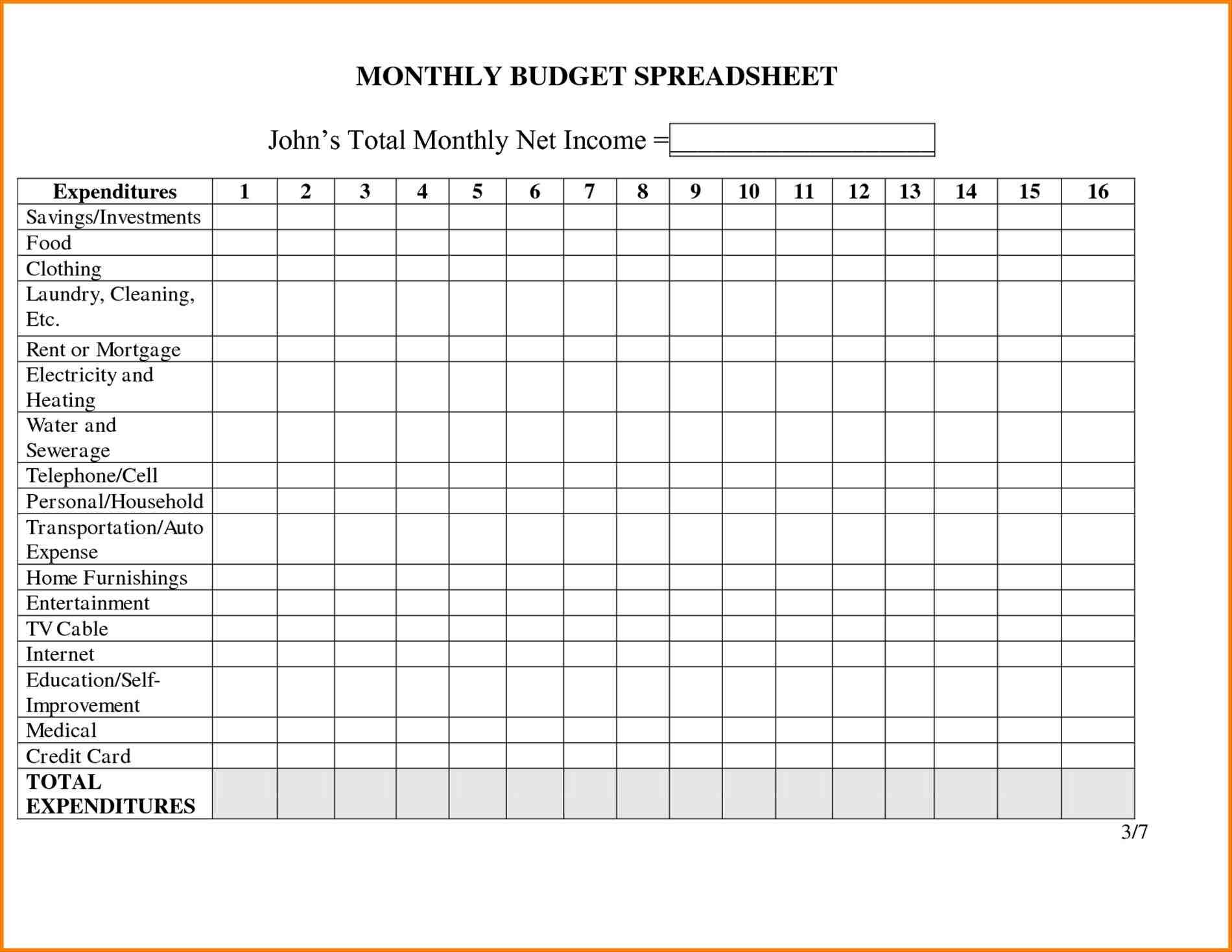 of making a family budget worksheet blank personal monthly for the home pinterest blank Family Monthly Expense Calculator Worksheet personal