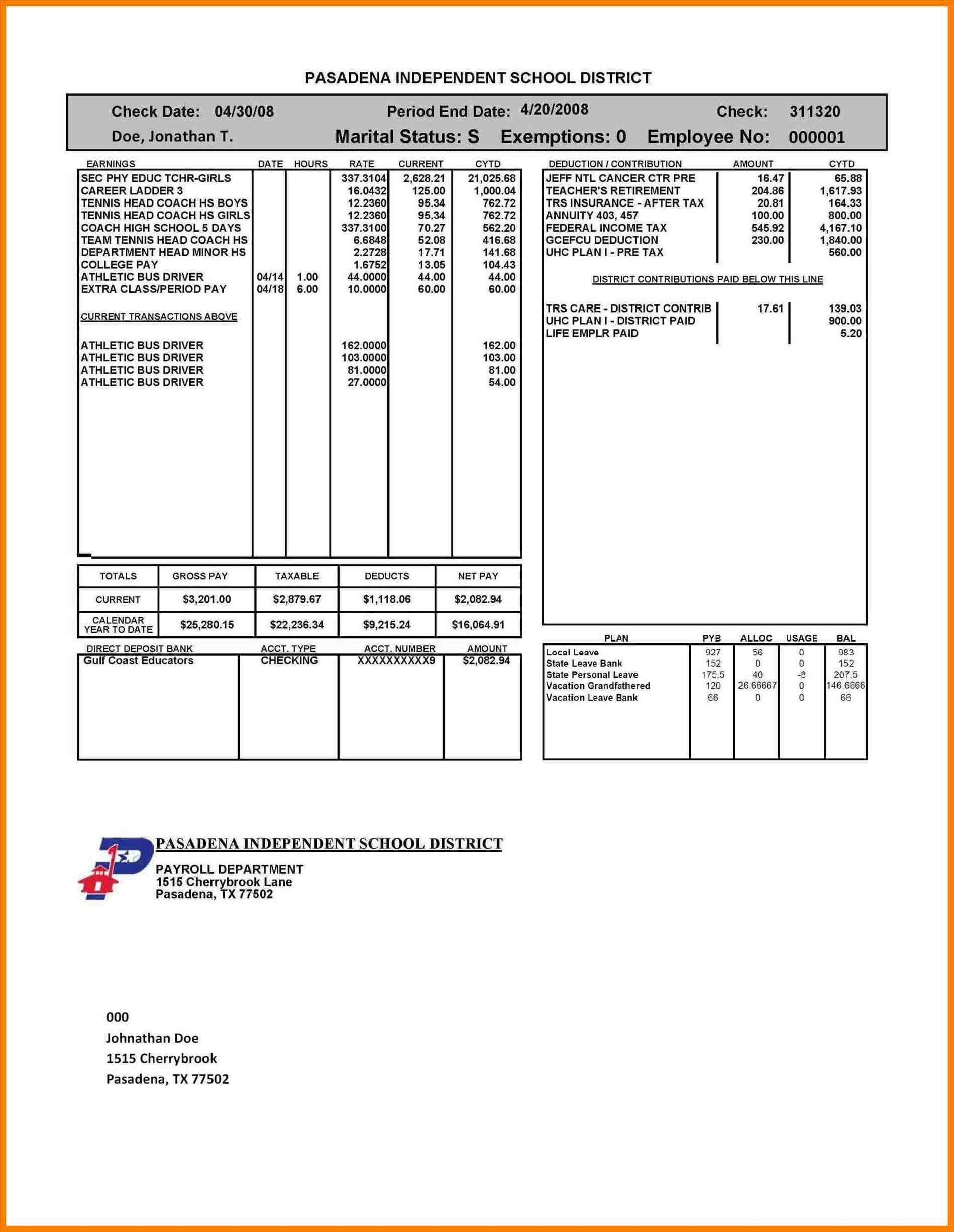Employee Pay Stub Template Sample Templates Sample Templates - Commission pay stub template