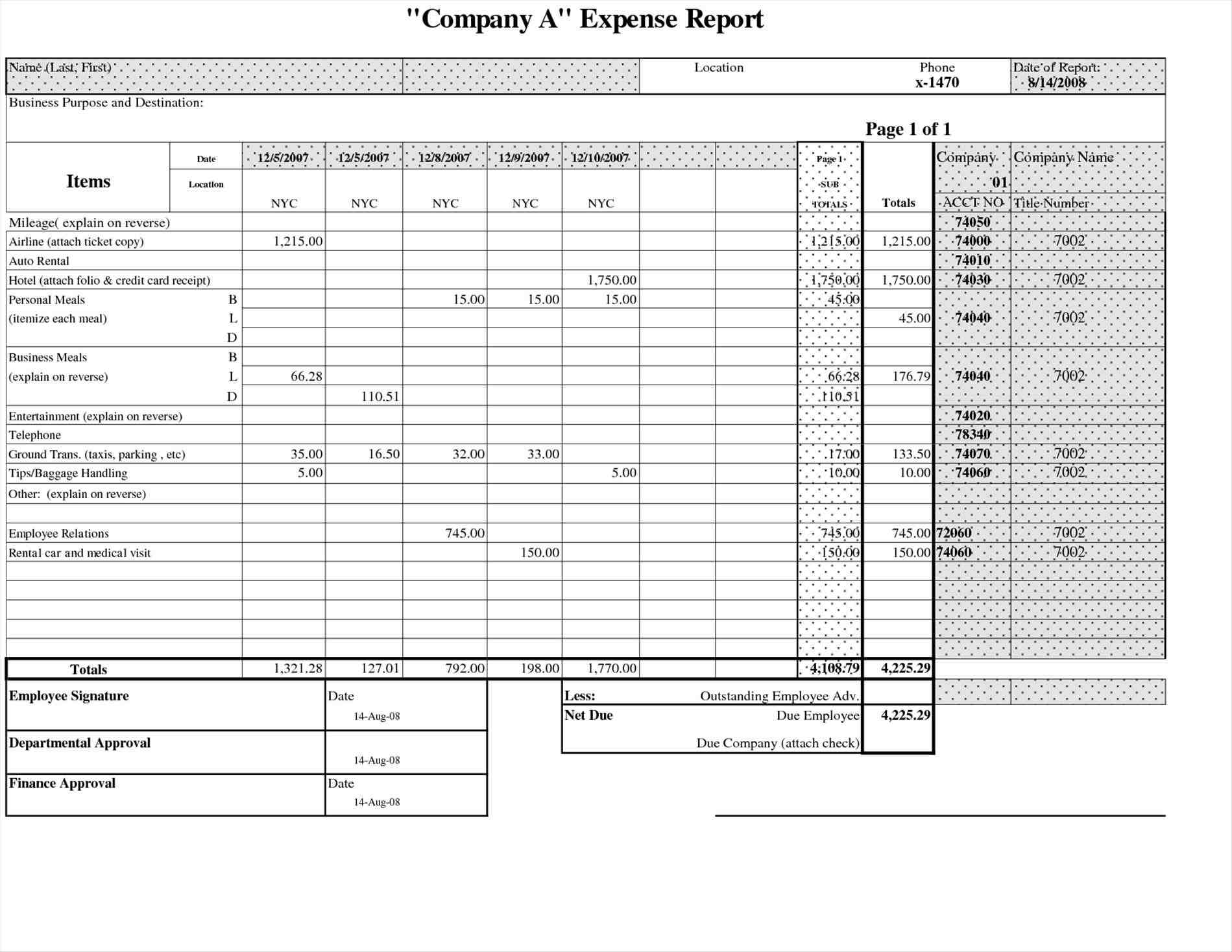 template excel awesome small business free form pdf doc for daily free Monthly Expense Report Template expense report form pdf
