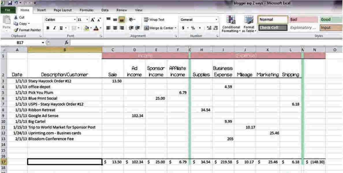free online budget spreadsheet