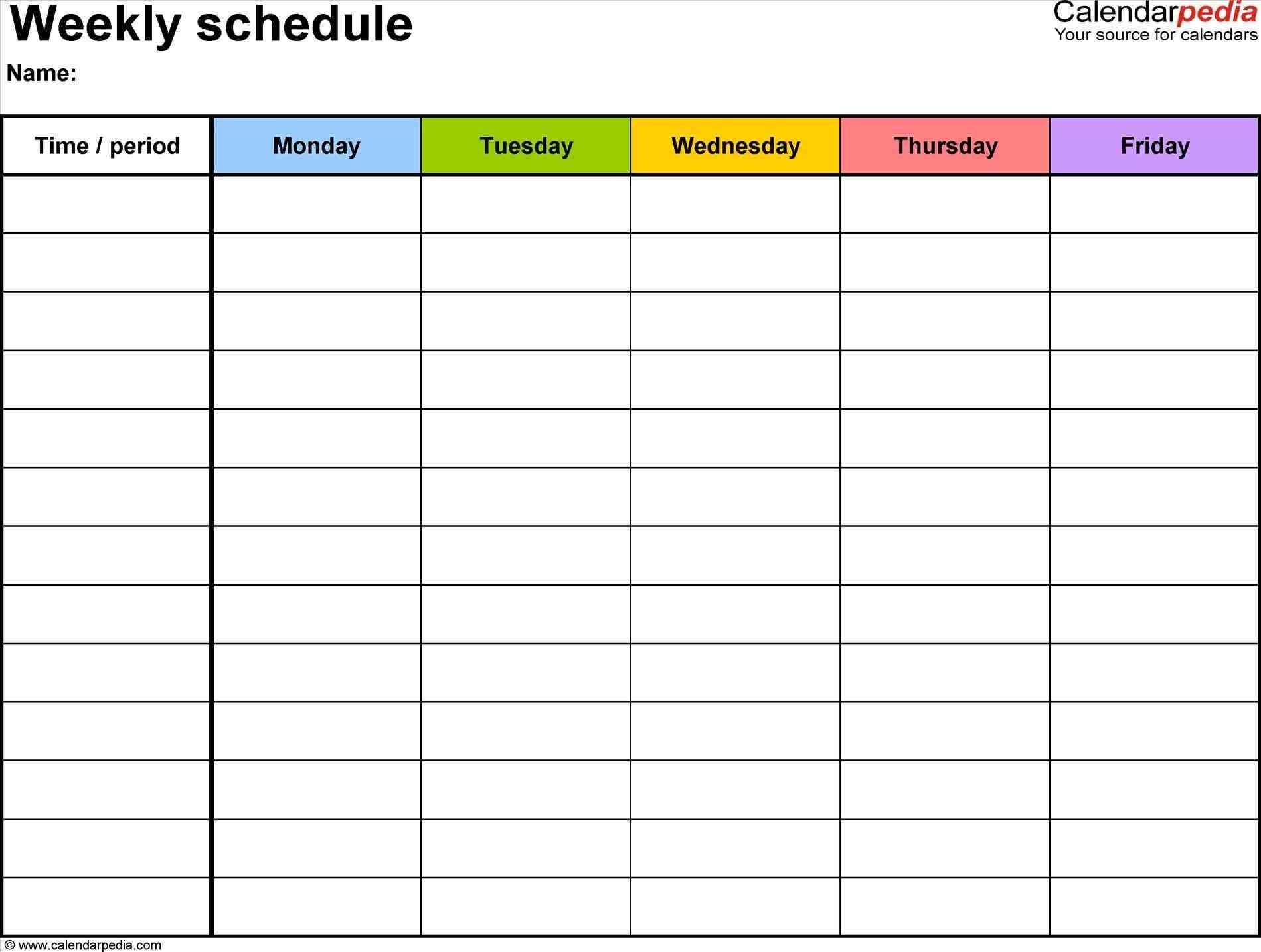 free One Week Calendar Template Excel weekly schedule templates for excel templatesrhcalendarpediacom week calendar template zoroblaszczakcorhzoroblaszczakco week One Week Calendar