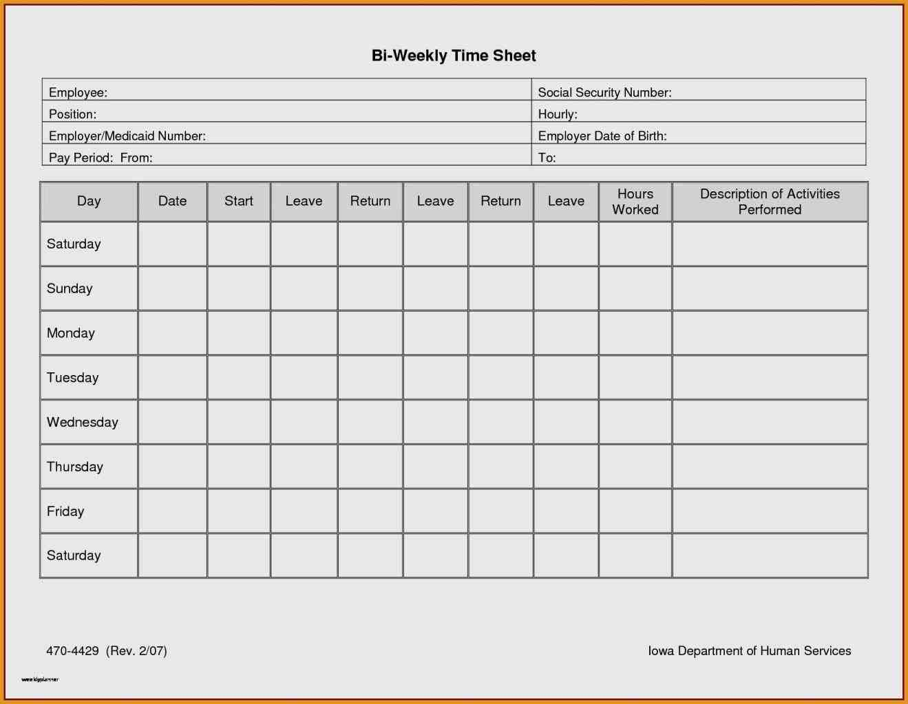 Weekly Timesheet Template Excel Free Download - Sample Templates ...