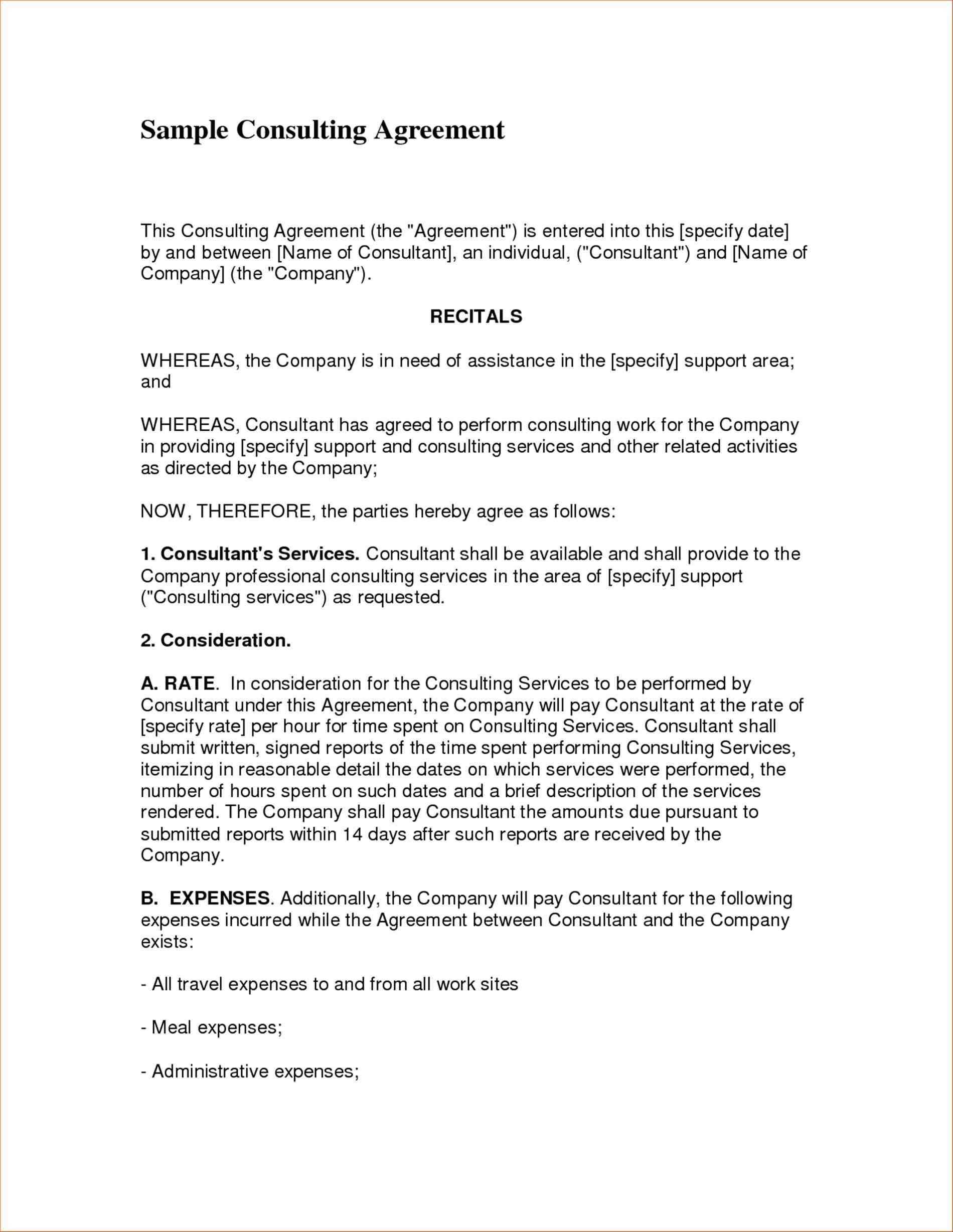 5 Formats For Consulting Agreement Templates service sample agreement cleaning contract rhpinterestcom consultant report template top formats for consulting rhbuystoreonlineinfo