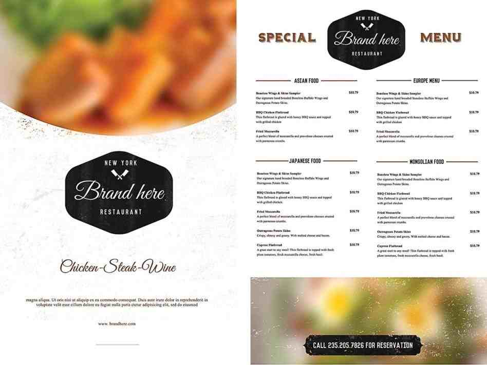 Free Menu Template food menu template free downloadrhcgispreadcom diy download templates to print rhcactusdesignerscom diy Free Menu Template menu template