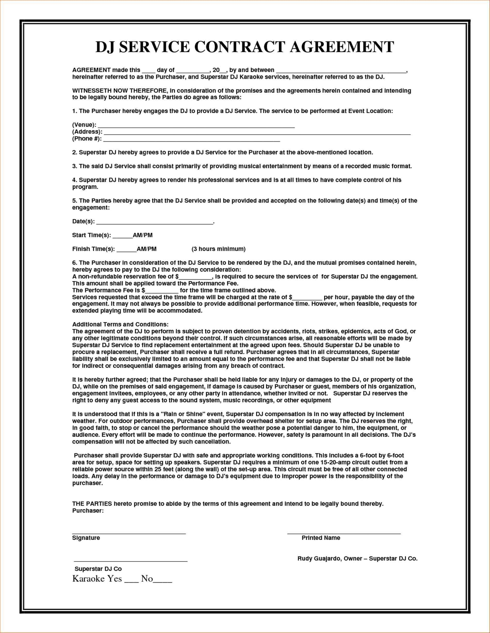 Top 5 Formats For Consulting Agreement Templates service contract template with agreement rhjosherovcom it support vendor part time it Top