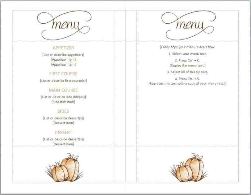 free Free Menu Template thanksgiving menu template full serive pinterest rhpinterestcouk get the look templates print and marketing blog