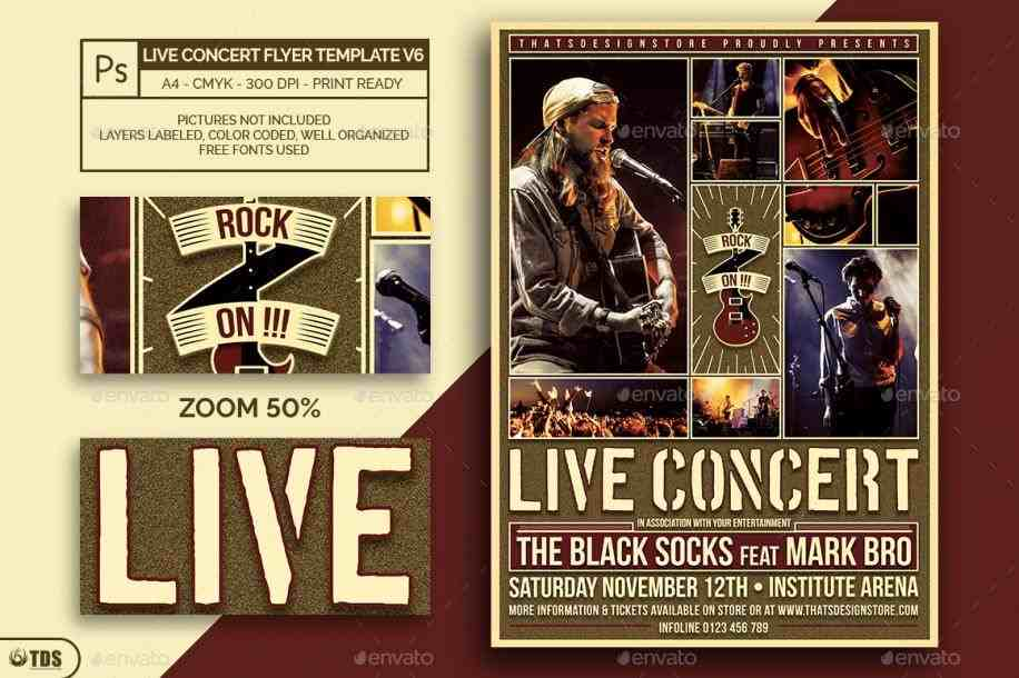godserv design bundlesrhdesignbundlesnet jazz Concert Poster Template concert flyer template by godserv design bundlesrhdesignbundlesnet indie music and rhpinterestcom indie Concert