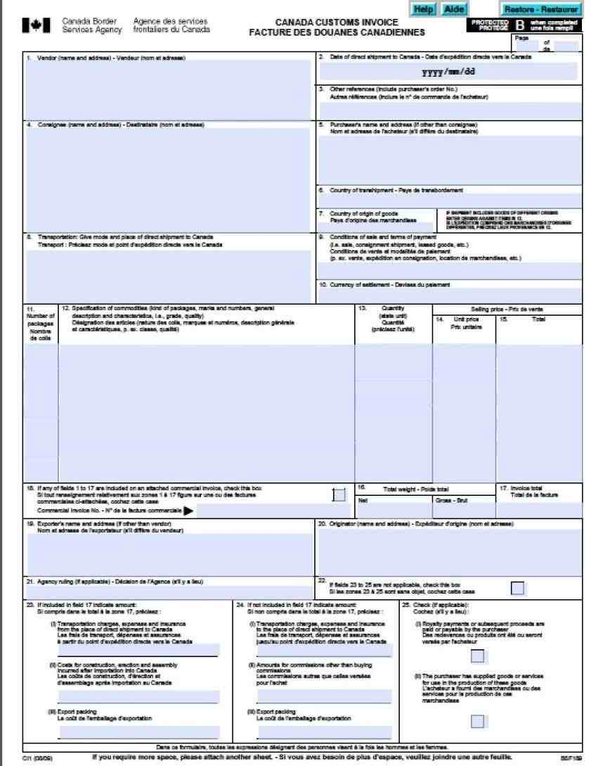 in excel rhpinterestcom canada customs free commercial canada Top 5 Resources To Get Free Commercial Invoice Templates customs invoice free