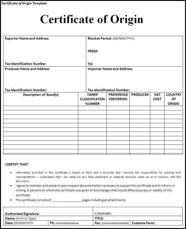 rhforolabco photo certificate of origin images doc sample rhmughalsinfo photo Top 5 Resources To Get Free Fax Word Templates certificate