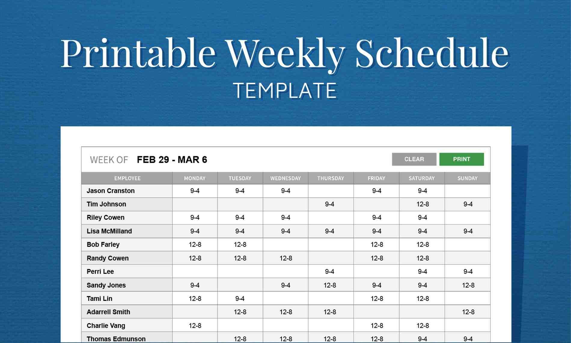 schedule rhpinterestcom free Top 5 Resources To Get Free Weekly Calendar Templates monthly work schedule template weekly employee hour shift