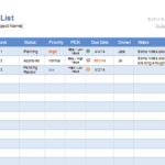 Payment Record Excel Template